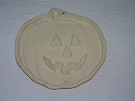 Sassafras 1995 Superstone Cookie Art Mold of Halloween Pumpkin Jack O La... - $18.49
