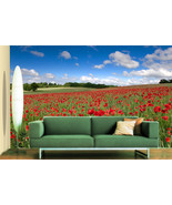 3D Red Rose Manor 858 Wall Paper Wall Print Decal Wall Deco Indoor Wall - $28.54+