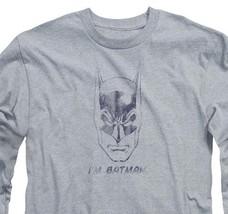 Batman DC Comics I am Batman Graphic Long Sleeve Justice League Superman BM1281 image 3