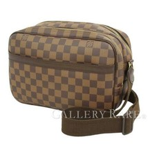 LOUIS VUITTON Reporter PM Damier Ebene N45253 Shoulder Bag Authentic 532... - $1,077.40