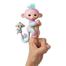 WowWee Fingerlings Baby Monkey & Mini BFFs Ashley and Chance Turquoise, ... - $16.21