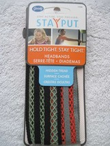 2 Goody Fabric Mesh Hidden Tread Stay Put Slide Proof Hold Head Band Secure Fit - $12.00
