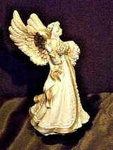 Angel Figurine with Silver Wings AA18-1369 Vintage image 3