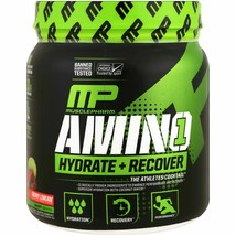 MusclePharm | AMINO 1 - Hydrate + Recover | Cherry Limeade, 432 g, 30 se... - $18.32