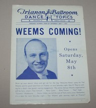 May 1 1937 Trianon Ballroom Chicago Illinois Dance Topics Ted Weems Perr... - $18.76