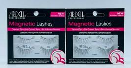 2 x Ardell Magnetic Lashes 113 BLACK Faux False Eyelashes Tapered Tips Free Ship - $14.99