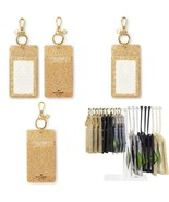 Kate Spade New York Id Badge Clip Key Chain, Gold Glitter - $42.95