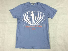 Junk Food Mens The Who Rock Band 82 US Tour Blue Wash Distressed Logo T-Shirt - $29.99