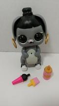 lol surprise interactive live pet Bunny Hun black gray rabbit set lights... - $6.92