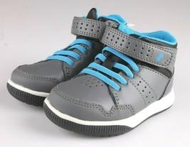 Surprize by Stride Rite Memory Foam Grey Blue Damarian Hi Top Sneaker Shoes NWT
