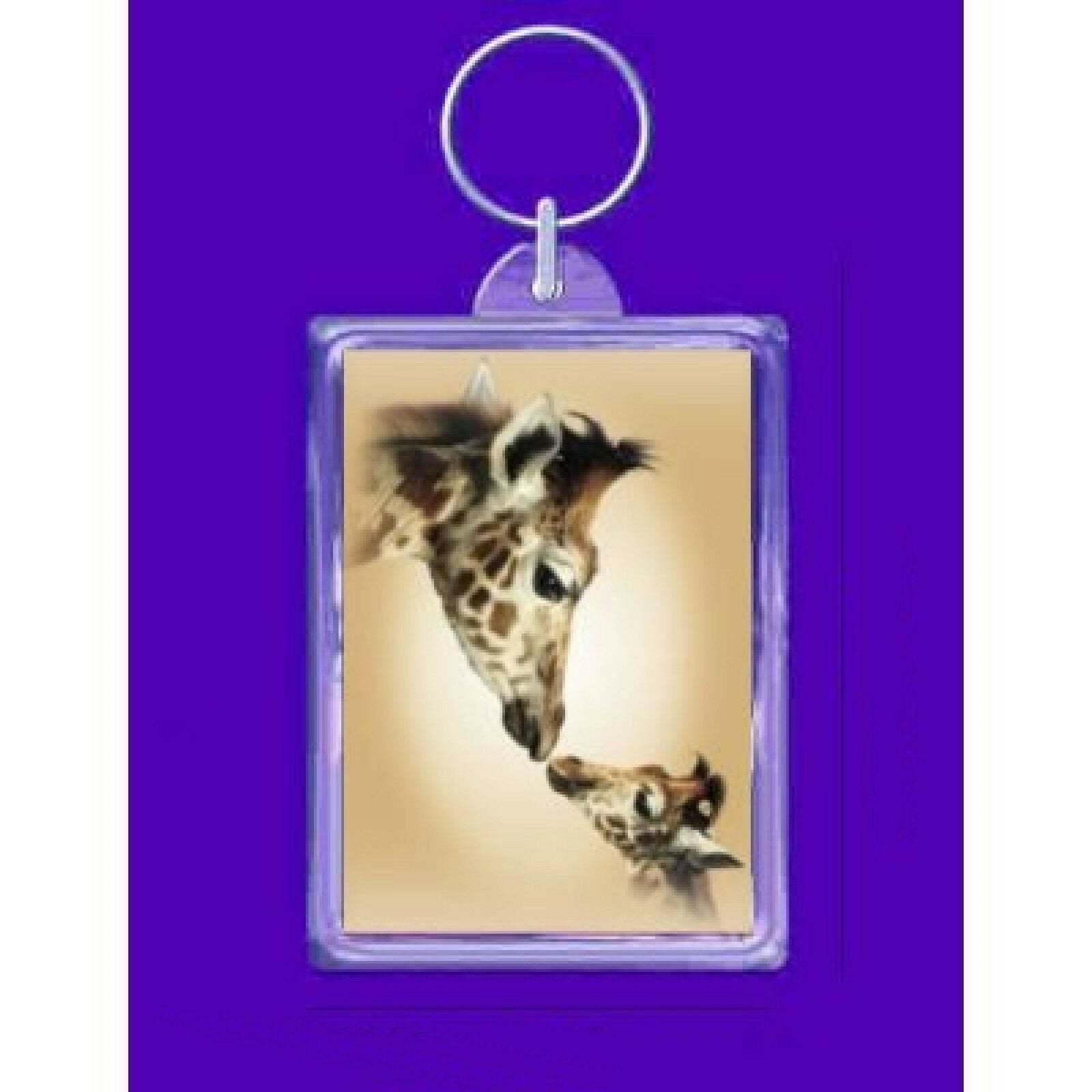 keyring giraffe mother and baby design, keychain