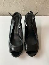 Marc Fisher Black Peep Toe Sling Back Platform Heel Sandal Size 8.5 - $23.33