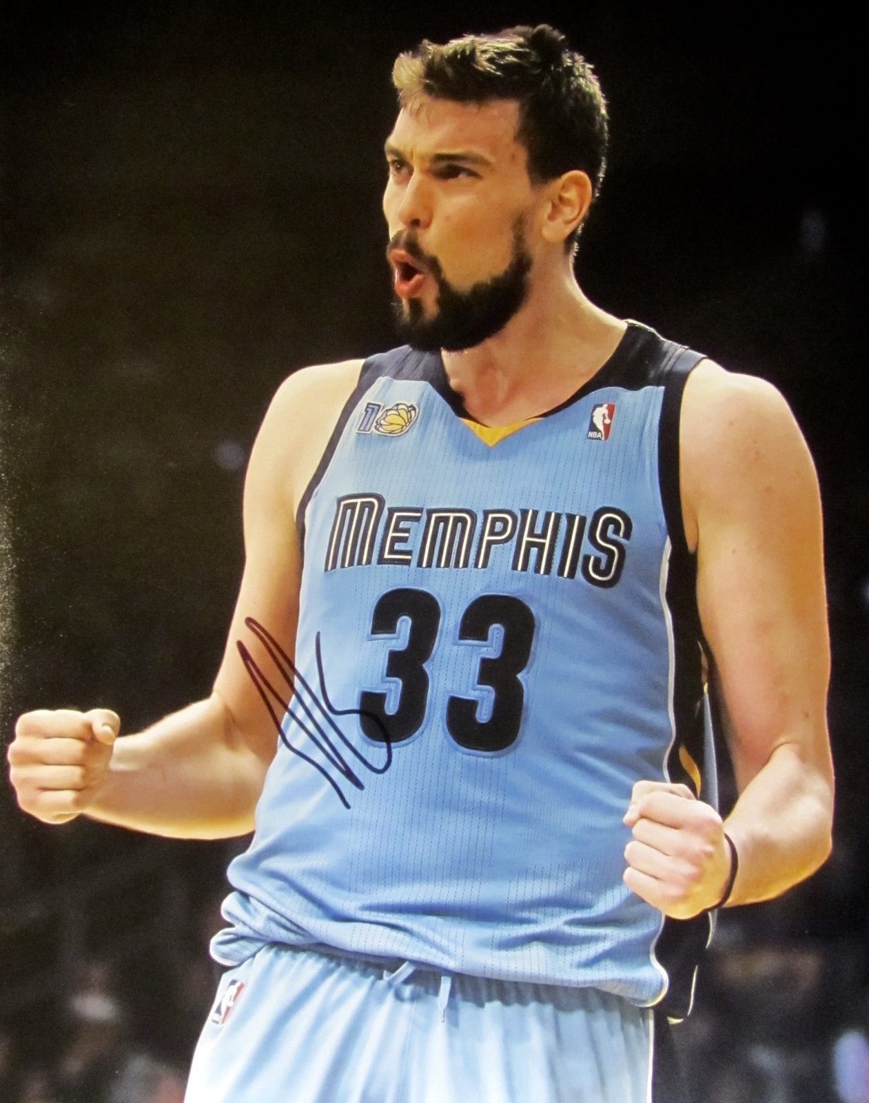 Primary image for Marc Gasol Autographed Hand SIGNED 11'' x 14'' Memphis Grizzlies photo w/COA