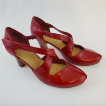 Easy Spirit  Esrebelle Red Pump Shoes Size 8 Comfortable Travel  - $60.46 CAD