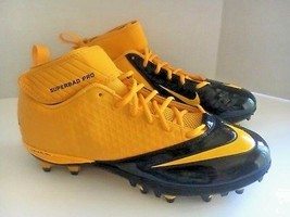 Nike Lunar Super Bad Pro Detachable Football Cleats (15, Gold/Black)  NEW - $10.18