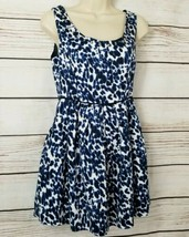 Forever 21 Animal Print A-Line Dress Women's Size Small Scoop Studded Ne... - $11.88