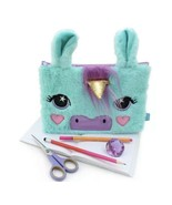Fuzzy Unicorn Pencil Case Pouch For 3 Ring Binder - New! - $8.42