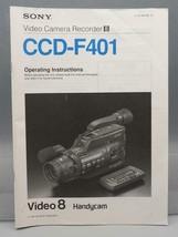 Vintage sony CCD-F401 Video Cámara Instrucciones Manual Folleto Booklet - $31.00
