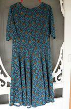 LulaRoe Teal Floral Print dress image 3