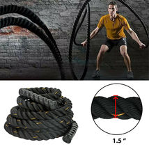 30ft Heavy Battle Rope Fitness Climbing Training Undulation Exercise Rop... - $36.50