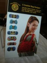 Lion Brand 5 Crochet Bag Designs 8 Pages 2005 - $2.90