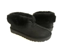 UGG MATE REVIVAL BLACK SHEARLING LINED MOCASSIN SHOE US 7 / EU 38 / UK 5 - $111.27