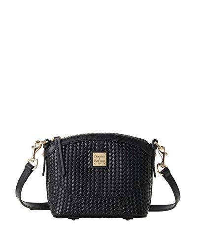 Camden Woven Mini Domed Crossbody Black