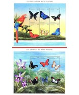 CENTRAL AFRICA 2001 African BUTTERFLIES x2 M/S SC#1398-99 MNH CV$20.00 I... - €3,69 EUR