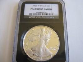 2007-W , American Eagle , NGC , PF 69 , Ultra Cameo ( Black Retro Label) - $148.50