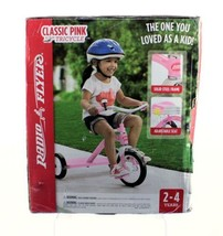 """Radio Flyer Pink Classic 10"""" Tricycle Toy Steel Frame Adjustable Seat Bo... - $58.33"""