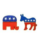 DEMOCRATIC DONKEY REPUBLICAN ELEPHANT PIN Political Party Mascot Electio... - $6.95+