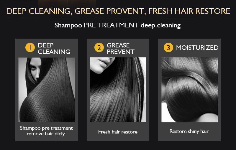 5% Brazilian Keratin 24K Gold Therapy Hair Protein Treatment Care Shampoo Set