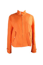 1130-2 Lauren Ralph Lauren Pompan Orange Twill Jacket 8 $200 - $41.65