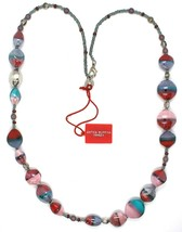 Necklace Antique Murrina, CO979A04, 80 cm, Red Light Blue Pink, Effect Sand image 2