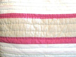 Pottery Barn Kids Quilted Sham Standard Pillow Pink Beige White Jungle Safari - $28.69