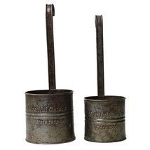 Rustic Tin Hanging Planter Set Vintage Containers Metal Country Garden D... - $30.22 CAD