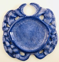 "Style Eyes by Baum Bros SEASHELL COLLECTION Blue Crab 9"" Plate  - $18.99"