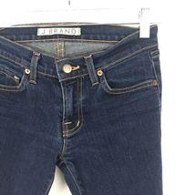 J Brand Damen Größe 24 Skinny Knöchel Jeans mit Dunkel Gewaschener Denim Blau image 4
