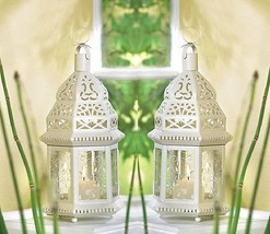 "White Moroccan Candle Lantern 12"" tall (Set of Two) Wedding Party Suppli... - $35.00"