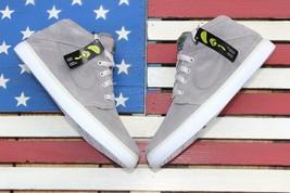 Nike Suketo Mid Leather Suede Skate Shoes Grey White SB [525310-001] Men... - $55.10