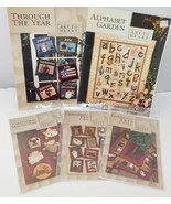 Lot of 5 ART TO HEART Quilt Applique Patterns, Christmas - $19.23