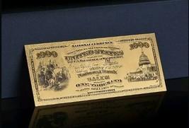 <MINT GEM>GOLD 1875 American OLDSTYLE$1,000Banknote Rep*~BEAUTIFUL RAISED  - $10.63