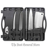 7 Piece Big Game Deer Processing Hunting Kit Knife Set Field Butcher Dre... - $79.94
