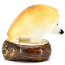 Hand Carved Tagua Nut Carving Hedgehog Figurine Made in Ecuador image 4