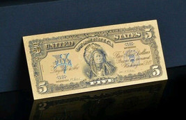 ☆AMAZING DETAIL☆ 《1899 SILVER CERTIFICATE》 INDIAN CHIEF  $5 Rep.*Banknot... - $16.16