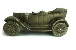 Vintage Cast Brass Model T Card Heavy Ford Molded Convertible  - $37.37
