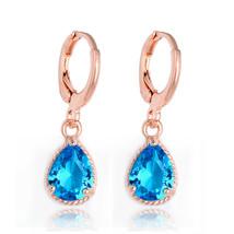 Gold Color Cz Zircon Earrings Women Fashion Wedding Dangle Jewelry Earri... - $7.99