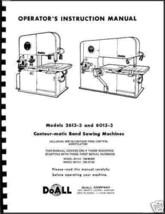 DoAll Band Saw  CONTOUR-MATC  Manual #2613-3 and 6013-3 - $21.78