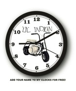 LIL' INDIAN MINIBIKE WALL CLOCK-FREE US SHIP! - $28.70+