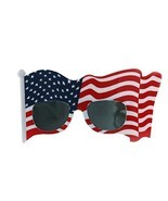 BinaryABC American Flag Sunglasses, Patriotic Glasses, Party Eyewear, 4t... - $11.44